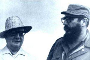 Salvador Allende og Fidel Castro